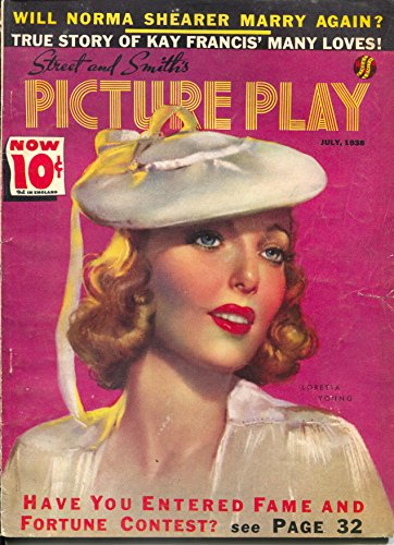 Picture Play 7/1936-Loretta Young-Zoe Mozert-George Raft-Fred Astaire-VG