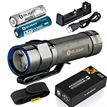 Olight S1A Baton Cree XM-L2 LED 600 Lumens Flashlight With 1.5V AA Lithium Iron Battery And 14500 Rechargeable Li-ion Battery and Battery Charger and Skyben Holster