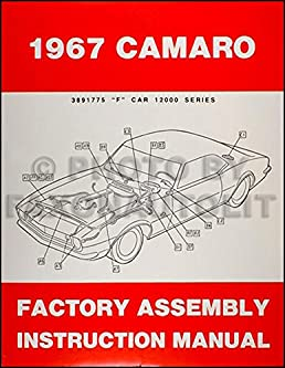 1967 camaro factory assembly manual reprint including rs ss z28 rh amazon com 70 Camaro 70 Camaro