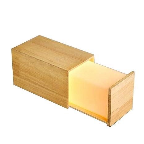 Caja de madera moderna europea Sala de estar Mesa Luz ...