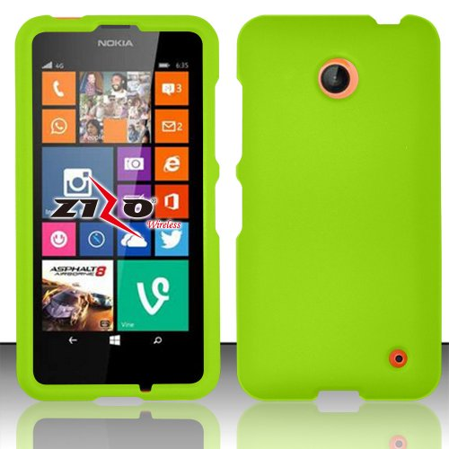 Neon Green Protective Hard Shell Cover Shield Case + ATOM LED - Import It  All