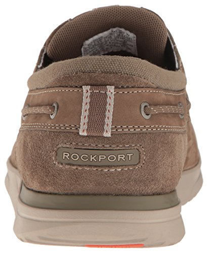 Rockport Mens Langdon 3 Eye Ox Oxford Taupe Nubuck