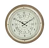 Deco 79 Round Wood Steel Wall Clock