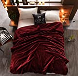 S Hotel Collection Luxurious Sherpa Double-sides Reversible Super Soft Warm Fuzzy Bed Blanket Anti-static Blanket Throw