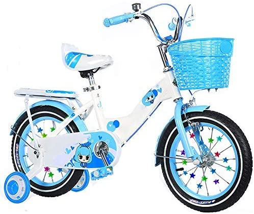 YSA キッズバイク子供用自転車12/14 / 16/18インチ男の子と女の子のサイクリング、子供に最適2-9歳ブルーイエローピンク