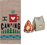 Camping 3 Piece Kitchen Bundle, Dish Towel with Salt and Pepper Shakers