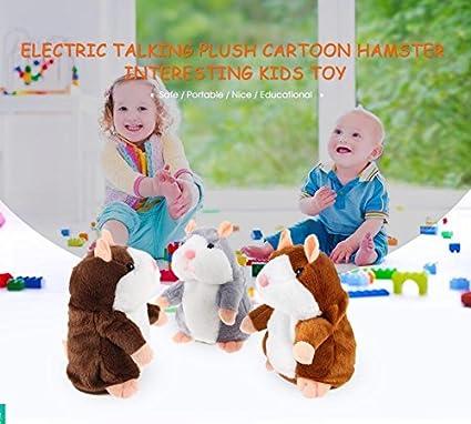 UK Kids Baby Cute Talking Hamster Plush Toy Sound Record Speaking Electronic Pet