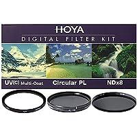 Hoya 46mm 3 Digital Slim Filter Set II (HMC UV / Circular Polarizer / ND8) with Pouch
