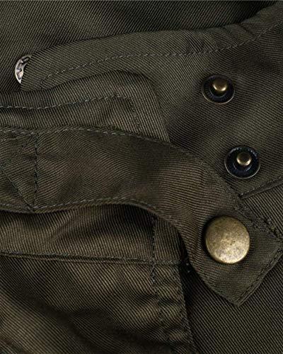 Incappucciato Primaverile A Cappotto Donna Cerniera Solidi grün Alto Vintage Chic Armee Accogliente Cappuccio Chiusura Con Elegante Moda Giacca Manica Cute Autunno Collo Colori Coulisse Lunga Mantello HHAnxqBa5w