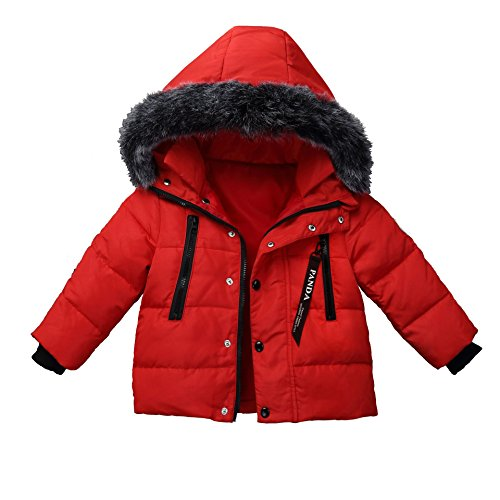 Windproof Jacket Boys Girls Puffer Foyeria Red Baby Outdoor Coat Down Winter For Winter Coat Warm BpqxR4Pnq