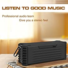 KORJO 20W Bluetooth 4.2 Wireless Speaker Waterproof Super Bass 22600mAh Big Power Battery 12 Hours Playtime Support TF/SD Card, AUX, USB Best Shower Speaker for Hiking and Beach Party