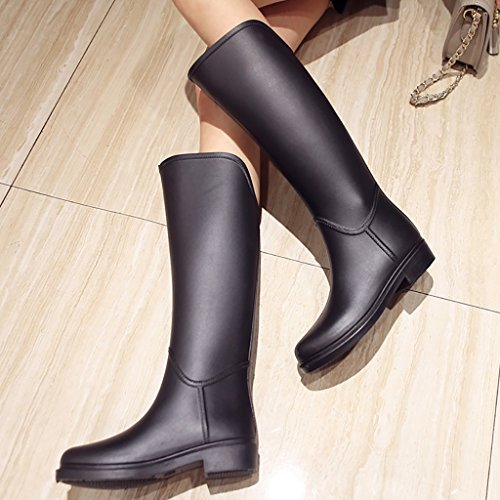 Ms Wellington Rain Boots Rubber Rain Boots Black EjFZJEV
