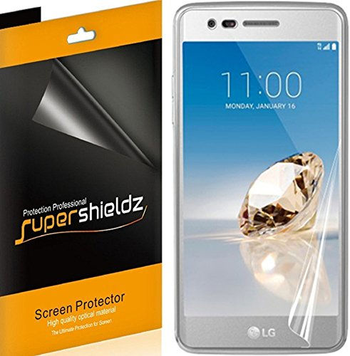 [2-Pack] Supershieldz for LG Aristo Screen Protector [Full Screen Coverage] Anti-Bubble High Definition Clear Shield -Lifetime Replacements Warranty – Retail Packaging