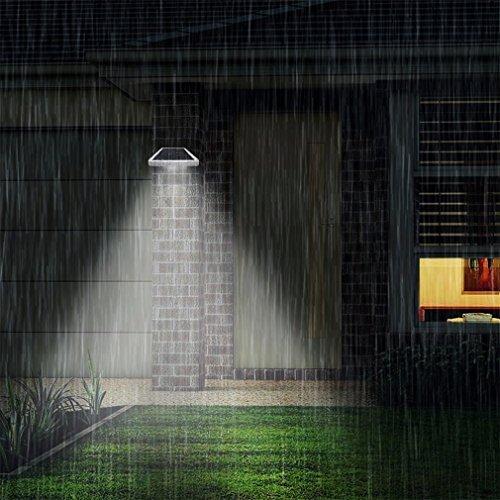 Lampe Solaire Jardin led sans fil, ICOCO 42 LED Etanche Luminaire Exterieur Détecteur de Mouvement avec Trois Modes Intelligents Eclairage Exterieur Solaire pour Jardin, Patio, Pont, Cour, Accueil, Dehors, Allée et Garage Comme Applique Ext