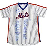 1986 New York Mets Team Autographed Signed Pinstripe Jersey 33 Sigs PSA/DNA Auth