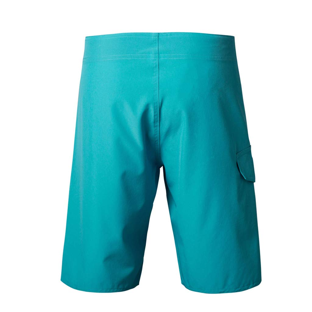 Mens Shorts Casual Summer Athletic Sports Drawstring Solide Beach Surfing Swimming Loose Short Pants Trunks