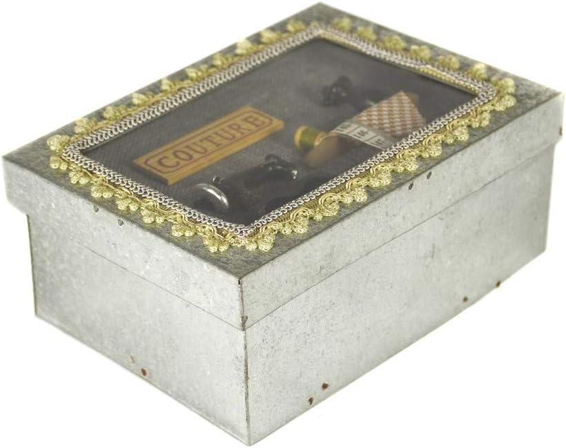 tapidecor Caja Metal COSTURERO Rectangular 20X15X9: Amazon.es: Hogar