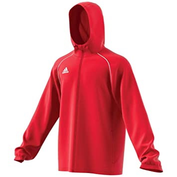 adidas Core 18 Regenjacke Kinder rot / weiß, 128: Amazon.de ...