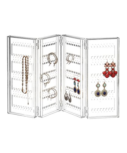 Earring Holder and Jewelry Organizer - Earring Organizer Holds up 140 Pairs of Earrings (Earring Holder)