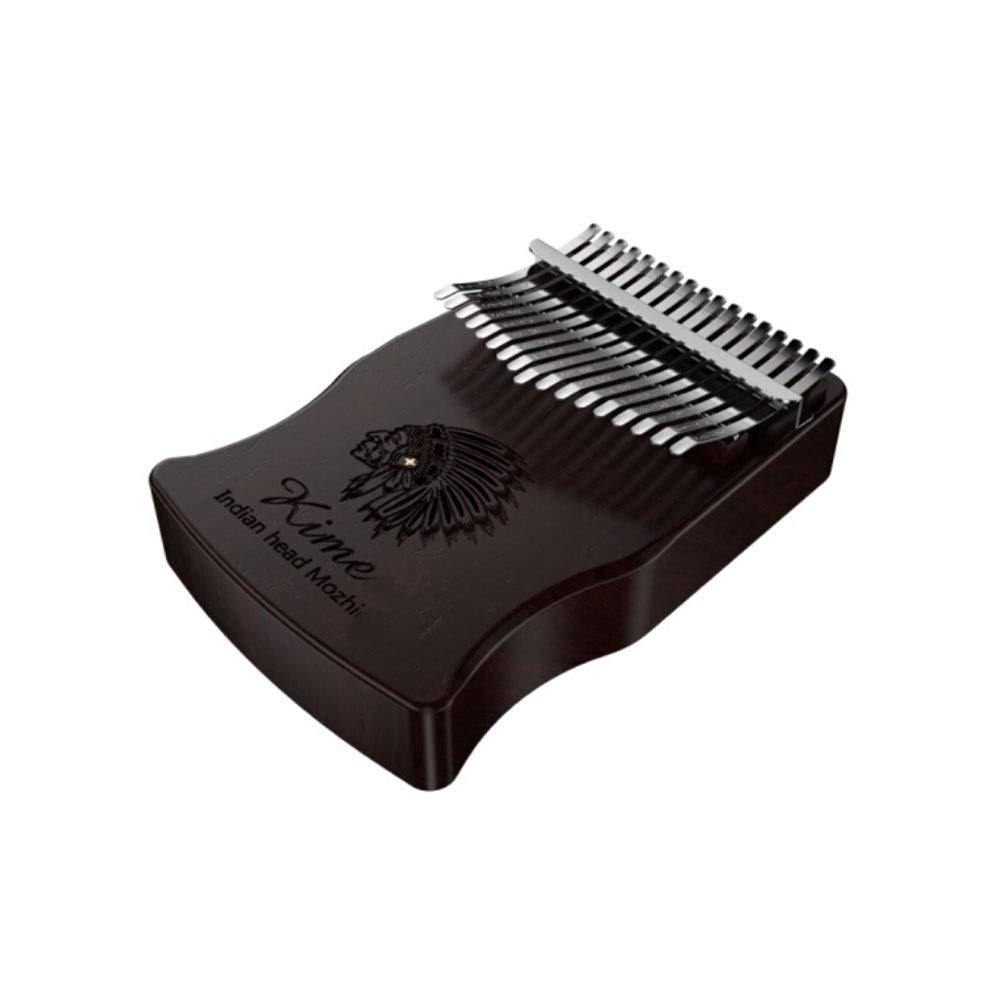 Youshangshipin Kalimba, 17-tone Female Finger-shaped Curved Portable, Curved Carved Empty Design Style (style 4, Gifts; High-grade Piano Bag + Tuning Hammer + Polishing Piano + Piano Bag + Digital Sou