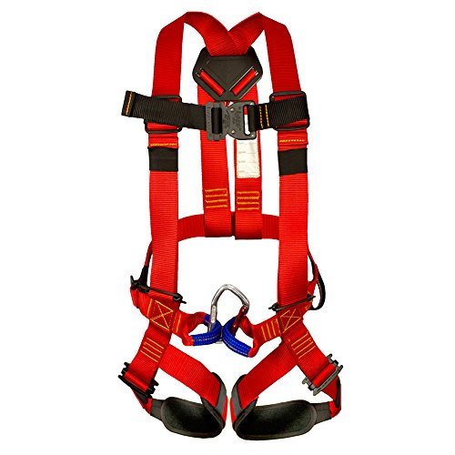 Fusion Climb Warrior Kids Full Body Climbing Rope Course Harness, Red/Black