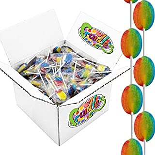 Rainbow Lollipops Suckers, Tooty Fruity Flavor, Individually Wrapped, Kosher, 5 Pound, Approx 175 Pops