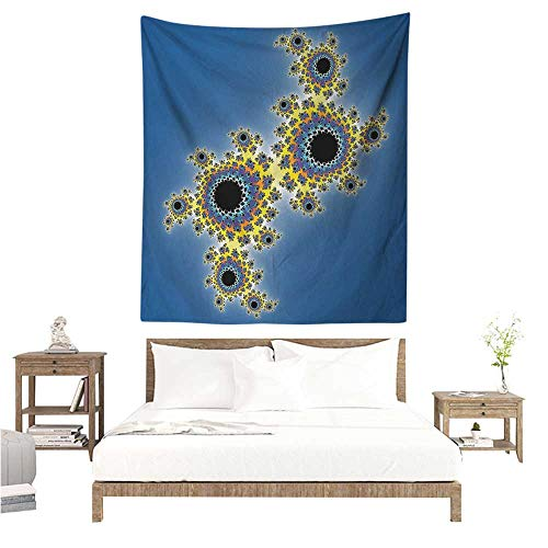 WilliamsDecor Hall Tapestry Fractal Floral Spiral Unusual Contemporary Pattern with Rotary Artistic Display 60W x 91L INCH Suitable for Bedroom Living Room ()