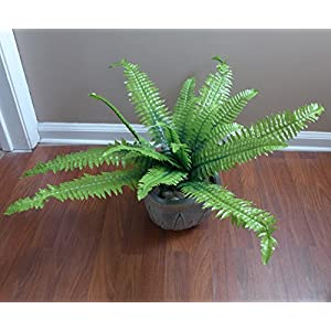 "24"" Boston Bushes Artificial Plants Fern Leaf Home Wedding Decoration Decorative Flowers Artificial Arrangement 51"