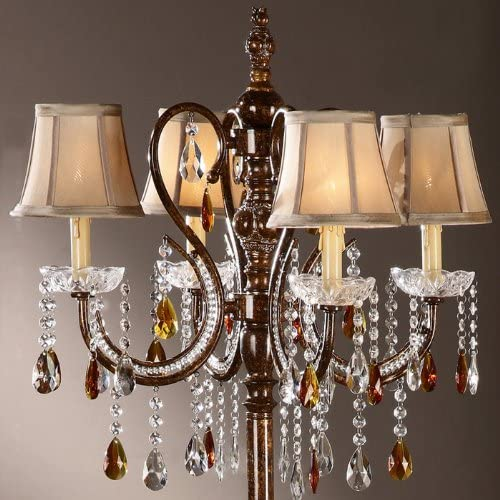 Home Creek Crystal Drop Tea Light Floor Lamp