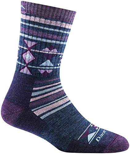Darn Tough Nobo Micro Crew Cushion Sock - Women's Purple Medium