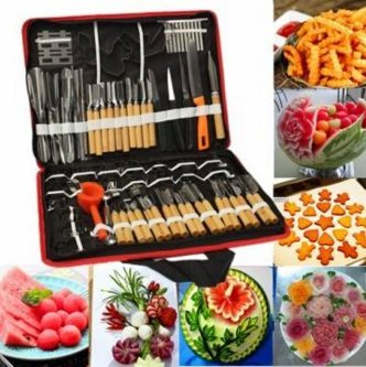 80Pcs Portable Vegetable Fruit Food Chef Burin Carving Chiseling Tool Kit With Bag by Lovestore2555 by Lovestore2555