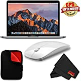 6Ave Apple 13.3 MacBook Pro (Mid 2017, Space Gray) MPXT2LL/A + MicroFiber Cloth + 2.4 GHz Slim Optical Wireless Bluetooth + Padded Case For Macbook Bundle