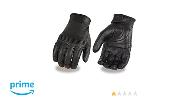 MG7516 Men/'s Perforated Leather Gloves w// Flex Knuckles /& Touch screen Fingers