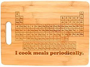 Science Nerd Gifts STEM Periodic Table Kitchen Décor Bamboo Cutting Board