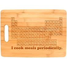 STEM Gifts I Cook Meals Periodically Nerdy Gag Gift Science Nerd Big Rectangle Bamboo Cutting Board by Gifts For Value