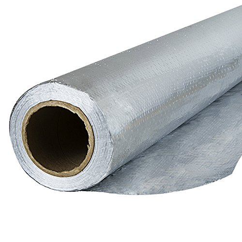 Houseables Radiant Barrier Insulation, Aluminum Foil Roll, 1000 Square Ft. (250 x 4 Feet), Reflective, Solar Guard Backed Material, Heat Barriers, For Attic, House Wraps, Offices, Tear Resistant by Houseables