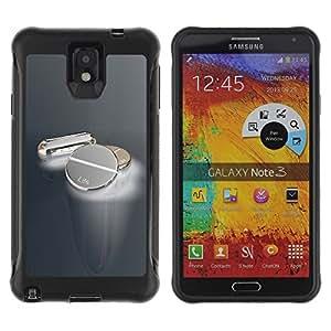 Suave TPU GEL Carcasa Funda Silicona Blando Estuche Caso de protección (para) Samsung Note 3 / CECELL Phone case / / Metal Pills /