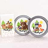 Thank You Forest Friends Labels, Forest Animal Baby Shower Birthday Party Favor Labels