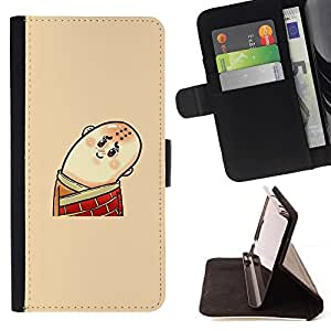 Momo Phone Case / Flip Funda de Cuero Case Cover - Divertido Hombre calvo - Samsung Galaxy Core Prime