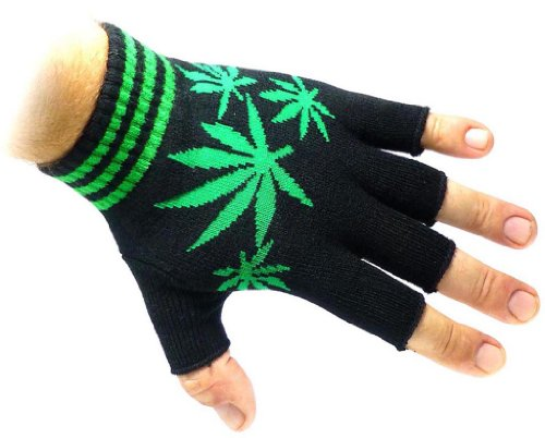 JTC-Belt-Unisex-Half-Finger-Stretchy-Fingerless-Gloves-One-Size-Fits-Most-Marijuana