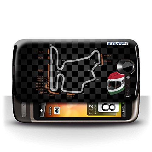 Etui / Coque pour HTC Desire G7 / Hongrie/Budapest conception / Collection de 2014 F1 Piste