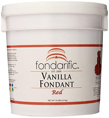Fondarific Vanilla Red Fondant, 10-Pounds by Fondarific