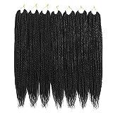 Ailsa 7Packs Crochet Braids Hair Senegalese Twist Hair 30Strands/Pack(22inch,1B)