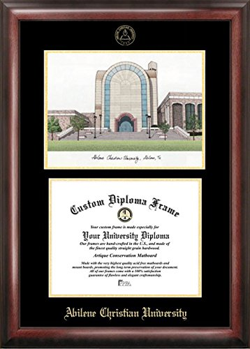 Campus Images ''Abilene Christian University Embossed Diploma'' Frame with Lithograph Print, 8.5'' x 11'', Gold by Campus Images