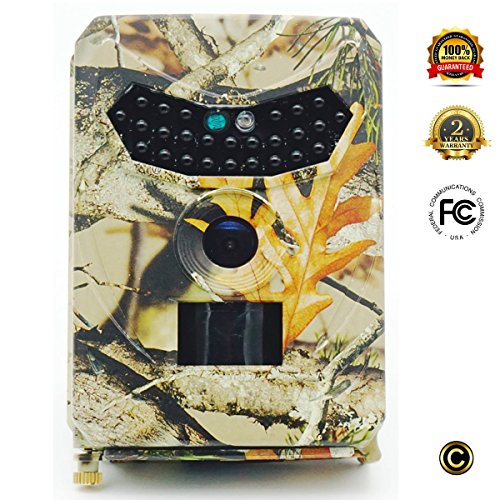 Game Trail Cameras with Night Vision for Hunting - 12MP, 1080HD, No Glow Infrared
