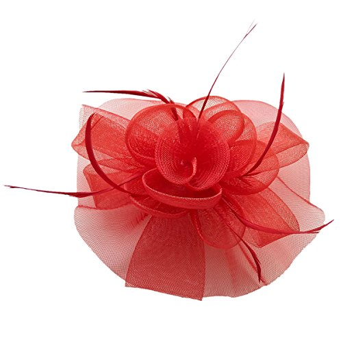 Fascinator Hair Clip Headband Feather Flower Pillbox Hat Cocktail Tea Party A - Gardens At Victoria Shops
