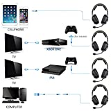 New Xbox one PS4 PC Headphone with Mic Volume Control, SADES SA807 Stereo Gaming Headset for Mac Tablet Laptop Computer Smartphones ipad ipod iphone by AFUNTA-Black+Green