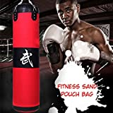 AngelicaAPCA MMA Heavy Boxing Bag Kit,Empty Boxing Punching Bag Sand Pouch Bag for Training Fitness Kicking Fighting