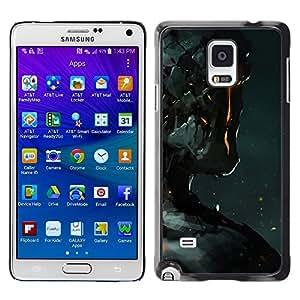 Stuss Case / Funda Carcasa protectora - Robot Fire Ai Technology Futurism Art Man - Samsung Galaxy Note 4 SM-N910