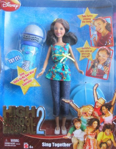 Disney High School Musical 2 Gabriella Sing Together Doll w Microphone (2007